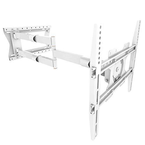 XTRARM supporto da parete per TV, fino a VESA 400x400 mm, completamente mobile/girevole/orientabile/inclinabile (Distanza 100 cm / 60 kg, Bianco)