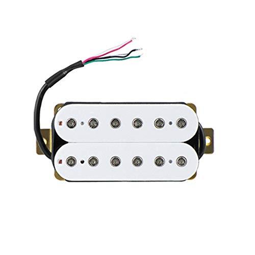 Edmend E-Gitarren-Doppel Entbrumm Brücke Hals Passive Pickup Höhenverstellschrauben Pick Up Musikinstrument Universal Zubehör (Color : White)