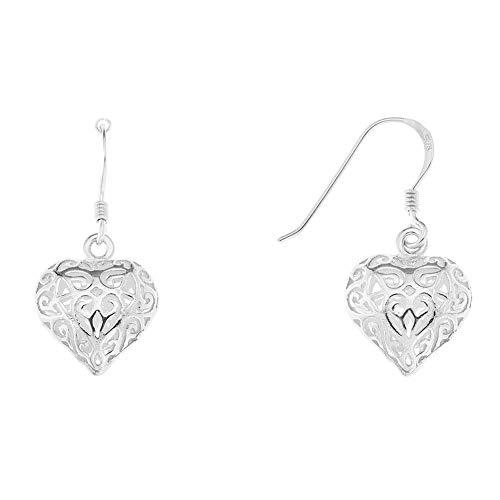Wean Pendientes huecos de Love Strand para mujer, para regalo de cumpleaños, regalo de San Valentín, para mujer