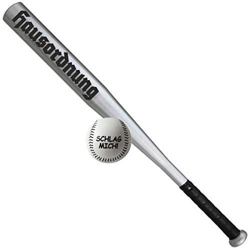 Spass kostet Sportset Baseballschläger mit Ball Hausordnung Schwarz Aluminium 26 Zoll