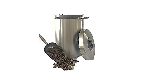 James Premium Kaffeedose luftdicht für 1kg Kaffeebohnen (Edelstahl Kaffeebehälter mit Schaufel