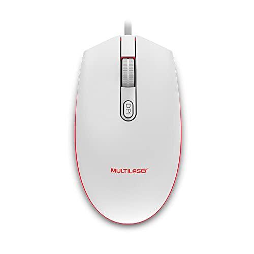Mouse Gamer Multilaser 2400DPI Led 7 Cores Branco - MO299