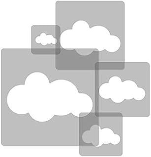 5 pcs Reusable Plastic Stencils // Cloud #2 // 13.4