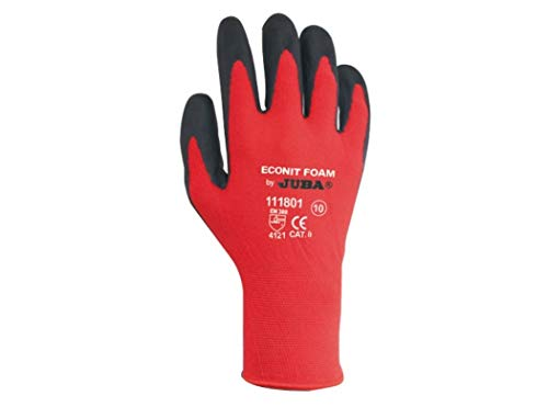 Juba eco-nit foam - Juego guantes nylon nitrilo talla 9 negro