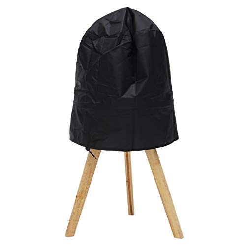 Edumarket241 Black BBQ Grill Cover Fits Stand-Up Charcoal Grill Serving Outdoor BBQ Grill Cover Round 14~15 inch Waterproof Rotisserie Part