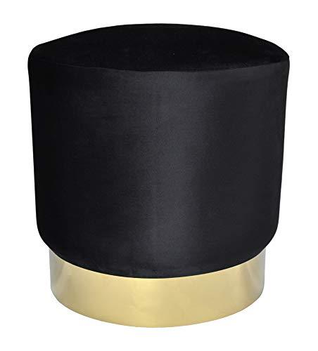 pouf nero velluto SAMIRA Pouf in Velluto Color Nero