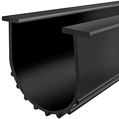 Garage Door U-Bottom Weather Stripping Kit Rubber Seal Strip Replacement, Universal Sealing Professional Grade T Rubber,5/16