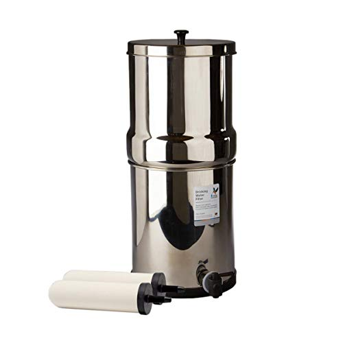British Berkefeld 2.24 Gallon Gravity-Fed Water Filter System- Stainless Steel with 2x ATC Super Sterasyl Candle Filters
