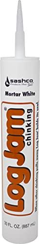 Sashco Log Jam Acrylic Latex Chinking Caulk, 30 oz Cartridge, Buff (Pack of 10)