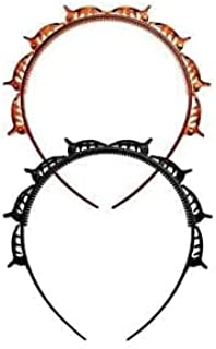 Fastyle (Pack of 2 pc) hairstyle hair band with Alligator Clips for makeup washing face Pack of (2)