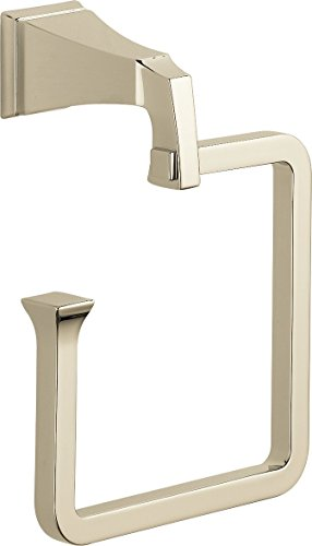 Delta Faucet 75146-PN Dryden Towel Ring, Polished Nickel