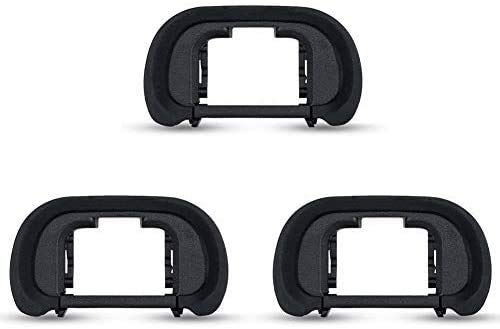 3-Pcs EP18 Eyecup Viewfinder Eyepiece FDA-EP18 for Sony Alpha A7III A7RIV A9II A99II A7SII ILCE-9 A58 A7 A7II A7R A7RII A7RIII A7S Protective Waterproof Eye Cup