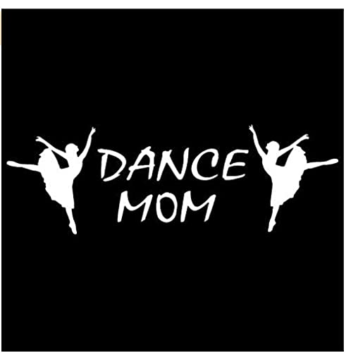 MDGCYDR Pegatinas Personalizadas Coche 29.2Cm*9.5Cm Dance Mom Car Truck Boat Window Vinyl Car Stickers Funny Auto Car Styling Decal Accessories Black Sliver