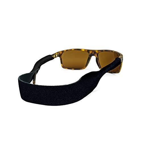 Croakies Original Eyewear Retainer, XL Black, 16 Inch x 3/4 Inch
