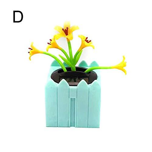 flower205 Figura Solar con Forma de Flor para Decorar el Coche, Funciona con energía Solar, diseño de Flores de Happy Dancing