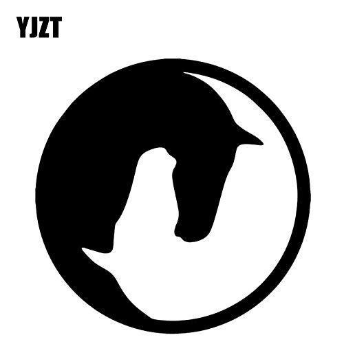JYHW 15,8 CM * 15,9 CM patrón de Caballo decoración Creativa Cuerpo de Coche Pegatina Vinilo Adhesivo Negro/Plata c4-2513 Black