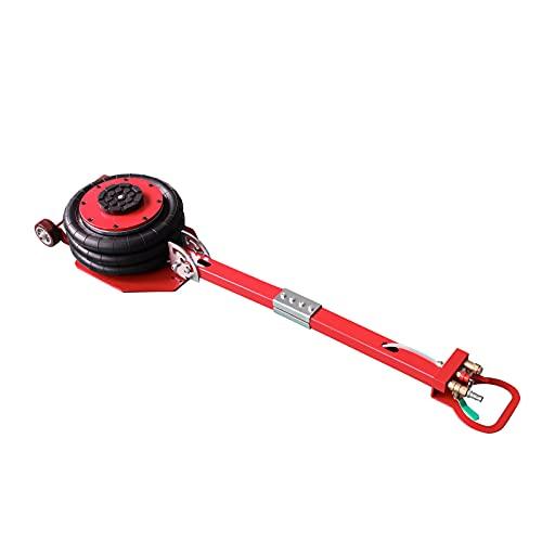 CNCMARKET Gato neumático de 3 toneladas con bolsa múltiple, gato elevador neumático, elevador de aire 6600 LBS rojo, capacidad de elevación extremadamente rápida