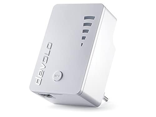 devolo WLAN Repeater, WiFi Repeater ac -bis zu 1.200 Mbit/s, Mesh WLAN Verstärker, WLAN Access Point, WLAN Steckdose, 1x Gigabit LAN Anschluss weiß