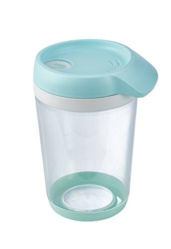 keeeper Schüttdose für Trockenvorräte, 4-in-1 Schüttöffnung, BPA-freier Kunststoff, 500 ml, 11 x 9,2 x 14,7 cm, Bruni, Mintgrün