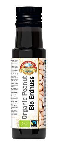 Aceite de cacahuete orgánico de comercio justo – 250 ml – Virgen extra, prensado en frío, nativo – No refinado – Vegano