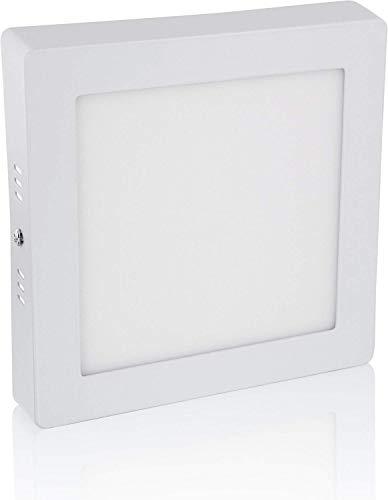 Panneau LED carré ultra fin 12 W - 230 V - 30 mm - En fonte d'aluminium - 1080 lm - 170 x 30 mm - Blanc lumière du jour (4500 K)