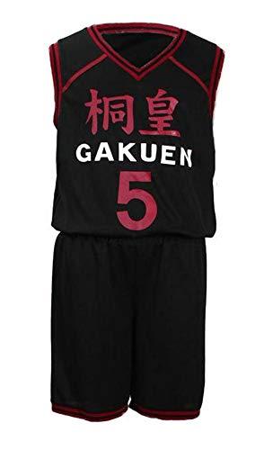 CHIUS Cosplay Costume Jersey Set for Touou High School No. 5 Aomine Daiki V1