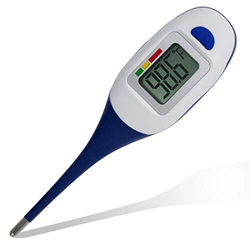 Apex Large Face LCD Fast Read Digital Thermometer for Adults and Children - Instant Read Thermometer for Fever Detection with Quick 5 Second Read Time