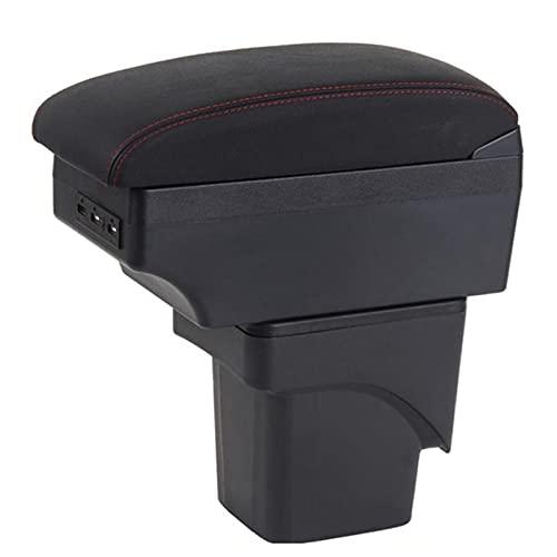 HXZI Apoyabrazos para Coche para Ford Focus 2 Mk2 Caja De Reposabrazos Caja De Reposabrazos De Coche Caja De Almacenamiento Central Interior USB (Color : B3 Black White 3USB)