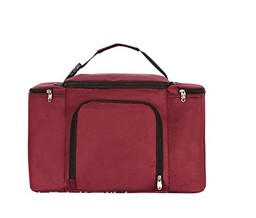 zhxinashu Sac de Pique Nique Isotherme Repas - Thermos Lunch Bag pour Déjeuner étanche et Réutilisable (Rouge)