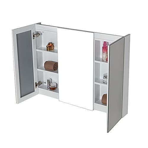 FLAMY Armarios con Espejo para baño,Viewfinder Muebles de baño,Mueble Lavabo,3 Puertas,Armario de...