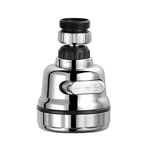 aireadorgrifococina 3 Modos de Salida de Agua, Cabezal de Boquilla de Grifo Universal Antisalpicaduras, Giratorio de 360 °, Aireador de Fregadero, Grifo de Ahorro de Agua para Cocina y Ba(Color:A)