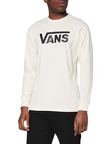 Vans Herren Classic LS T-Shirt, Seed Pearl-Black, L