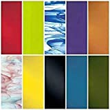 """System 96 Assorted Fusible Glass 10PACK COE 96 4"""" x 4""""..."""