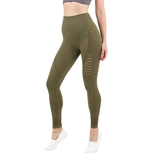Solid Color Yoga Wear Frauen Nahtlose High Taille Yoga Hose Fitness Sport Leggings