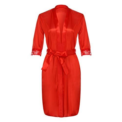 CAOQAO Damen Mode Neue Dessous Spitze Seide Unterwäsche Dessous Nachtwäsche...