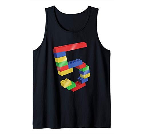 5 Year Old Building Blocks School Bricks - 5th Birthday Gift Camiseta sin Mangas