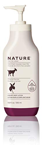 Nature By Canus Creamy Body Lotion, Original, 11.8 Oz, With Smoothing Fresh Canadian Goat Milk, Vitamin A, B3, Potassium, Zinc, and Selenium