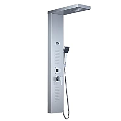 ROVATE Stainless Steel Multi-Function Shower Panel Tower