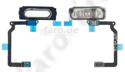 Botón de inicio + cable flexible blanco para Samsung G900F Galaxy S5