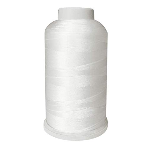 Meikeer Bonded Nylon Sewing Thread Size 69 T70 210D 3 1500 Yard ,for Outdoor Leather Bag Shoes Canvas Upholstery (White)