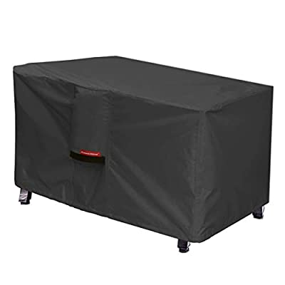 Porch Shield Patio Fire Pit Cover - Waterproof 600D Outdoor Rectangular Fire Table Cover Deck Box Protector - 44 x 26 inch