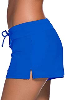 LUKEEXIN Summer Ladies Swimwear Sexy Solid Color Swim Trunks Swimsuit Cover Up Pants