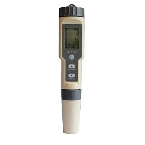 ULTECHNOVO Salímetro de Agua Hidrómetro Automático Medidor de Salinidad Multifuncional Probador de Calidad Del Agua Gravímetro de Agua Salada para Agua de Piscina Pecera (Gris Claro)