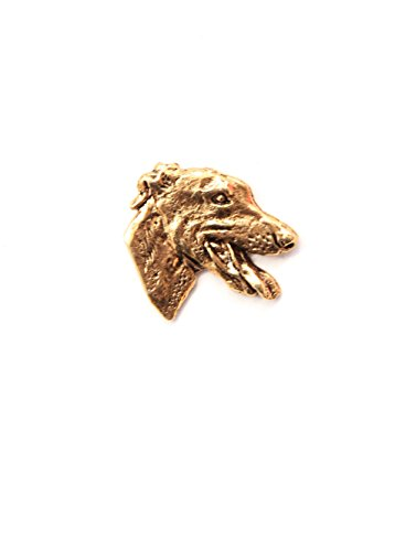 Pin/ Anstecker vergoldet Hunde Greyhound [p038]