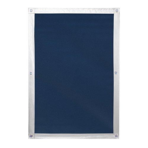 Lichtblick SDF.MK06.09V Dachfenster Sonnenschutz Haftfix, ohne Bohren, Verdunkelung Blau, 59 cm x 96,9 cm (B x L) für MK06