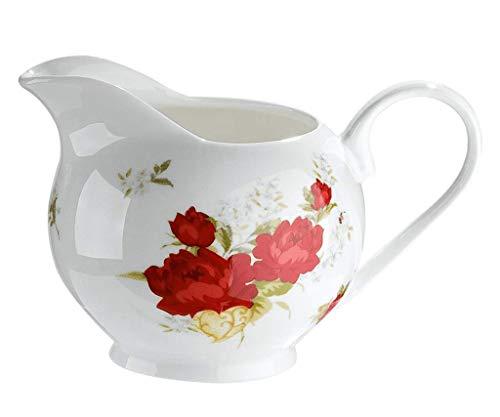 GILDE Kännchen Milch Kaffee Sahne Rosen Landaus Stil Jugendstil Garten Idylle