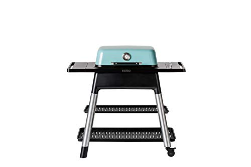 Everdure Force by Heston Blumenthal 2-Burner Liquid Portable Propane Gas Grill, Die-Cast Aluminum Body, BBQ Grill, 388 Square Inches of Grilling Surface, Adjustable Height, Mint