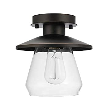 Globe Electric Vintage Semi-Flush Mount Ceiling Light Review