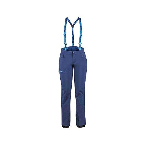 Marmot Wm's Pro Tour Pant Pantalon de Trekking Softshell, Pantalon d'Extérieur, Imperméable à l'eau, Respirant Femme Arctic Navy FR: XS (Taille Fabricant: 4)