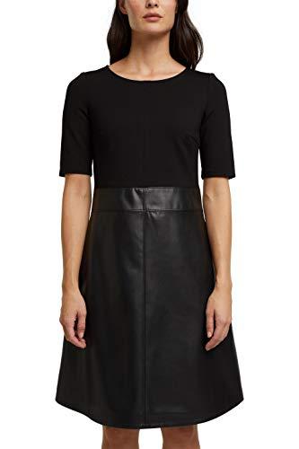 ESPRIT Damen 110EE1E312 Kleid, 001/BLACK, 38